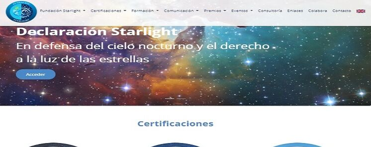 As es la nueva web de la Fundacin Starlight