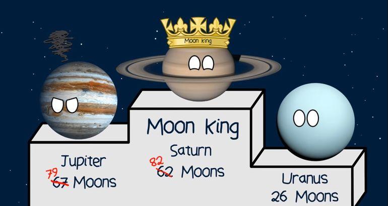Saturno Desbanca A Jupiter Con El Descubrimiento De 20 Nuevas Lunas